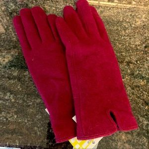 A New Day new touch screen red gloves